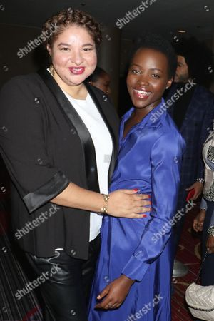 Liesl Tommy, director of 'Eclipsed' and Lupita Nyong'o