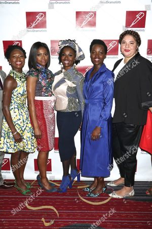 Stock Picture of Zainab Jah, Pascale Armand, Akosua Busia, Lupita Nyong'o and Liesl Tommy, director of 'Eclipsed'