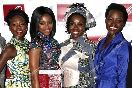 Zainab Jah, Pascale Armand, Akosua Busia and Lupita Nyong'o