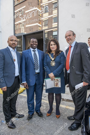 Editorial picture of Savannah bar and restaurant opening, London, Britain - 12 May 2016