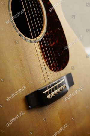 Detail Of A Martin 00x1ae Electro-acoustic Guitar