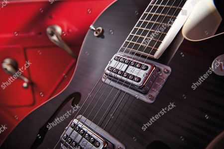 Detail Of The Tv Jones Oobrian Setzeroo Signature Pickups On A Gretsch G6120 Brian Setzer Hot Rod Electric Guitar