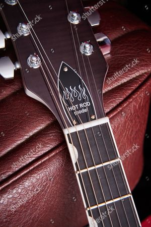 Detail Of A Gretsch G6120 Brian Setzer Hot Rod Electric Guitar