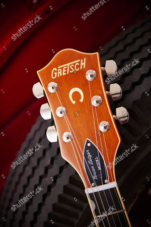 Detail Of The Headstock And Schaller Tuners On A Gretsch G6120 Brian Setzer Nashville Electric Guitar