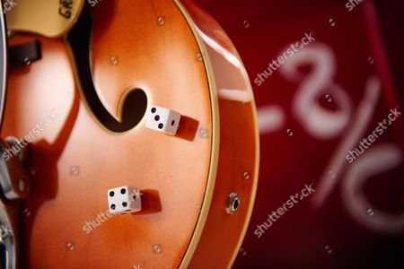 Detail Of The Dice Control Knobs On A Gretsch G6120 Brian Setzer Nashville Electric Guitar