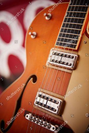 Detail Of A Gretsch G6120 Brian Setzer Nashville Electric Guitar