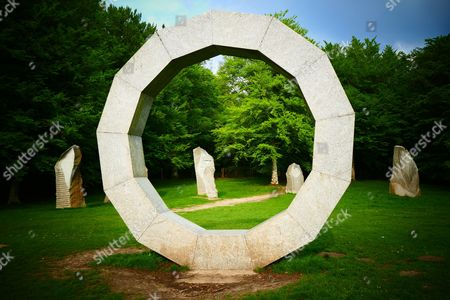 Heaven's Gate granite sculptures by Paul Norris, measuring 15ft tall and weighing 19 tonnes