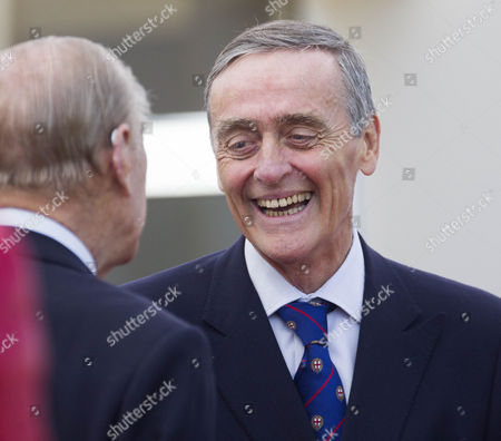 Gerald Grosvenor, 6th Duke of Westminster chats with Prince Philip