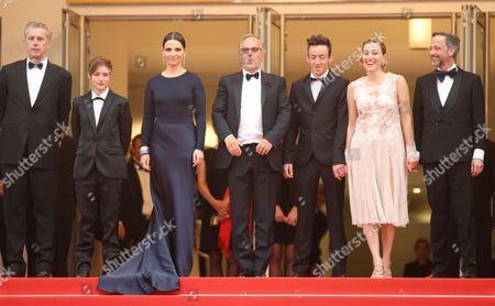Stock Image of Bruno Dumont, Raph, Juliette Binoche, Fabrice Luchini, Brandon Lavieville, Valeria Bruni Tedeschi and Jean-Luc Vincent
