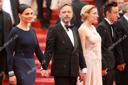 Juliette Binoche, Jean-Luc Vincent and Valeria Bruni Tedeschi