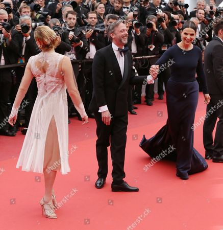 Valeria Bruni Tedeschi, Jean-Luc Vincent and Juliette Binoche