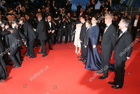 Raph, Juliette Binoche, Bruno Dumont and Jean-Luc Vincent