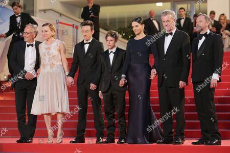 Stock Picture of Fabrice Luchini, Valeria Bruni Tedeschi, Brandon Lavieville, Raph, Juliette Binoche, Bruno Dumont and Jean-Luc Vincent