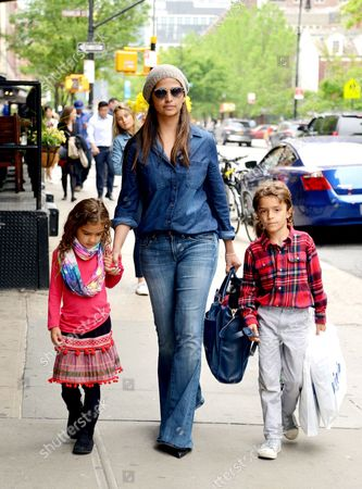 Camila Alves with daughter Vida Alves McConaughey and son Livingston Alves McConaughey