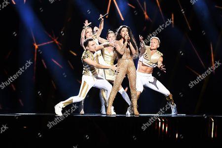 Stock Photo of Samra Rahimli and dancers