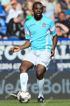 Stock Photo of Fabrice Muamba during the legends match between Tony Kelly's All Star Eleven and John McGinlay's All Star Eleven played at the Macron Stadium, Bolton on May 14th 2016