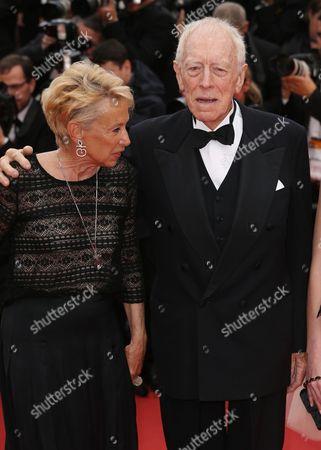 Max Von Sydow and Catherine Brelet