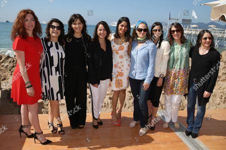 Stock Picture of Juliette Binoche, Patricia Riggen, Freida Pinto and Katia Lund