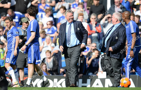 A smiling Chelsea Manager Guus Hiddink during the Barclays Premier League match between Chelsea and Leicester City played at Stamford Bridge, London on 15th May 2016