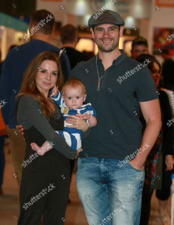 Stock Picture of Ayden Callaghan and Sarah-Jane Honeywell with Phoenix Hudson Callaghan