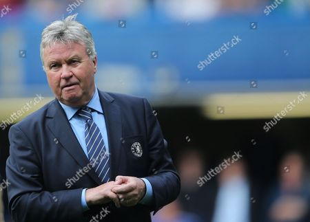 Chelsea Manager Guus Hiddink After The Barclays Premier League Match Between And Leicester City Played