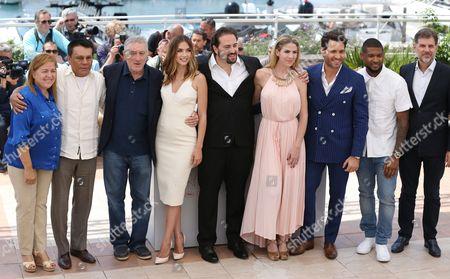 Roberto Duran, Robert De Niro, Ana de Armas, Jonathan Jakubowicz, Edgar Ramirez and Usher