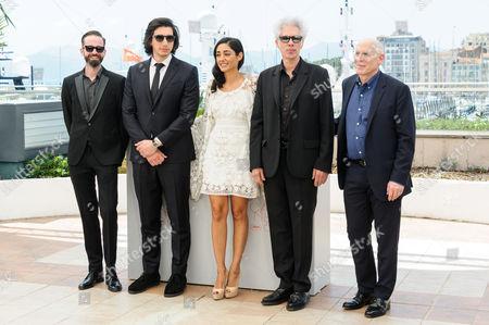 L-R: Affonso Goncalves, Adam Driver, Golshifteh Farahani, Jim Jarmusch (Director), Joshua Astrachan