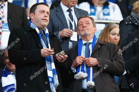 Politician and Sheffield MP David Blunkett is seen in the crowd before the Sky Bet Championship Playoff Semi Final Second Leg match between Brighton and Hove Albion and Sheffield Wednesday played at The Amex Stadium, Brighton on 16th May 2016