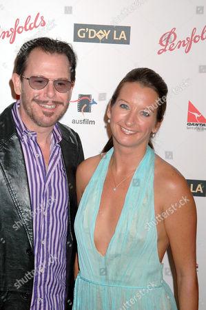 Kirk Pengilly and Layne Beachley