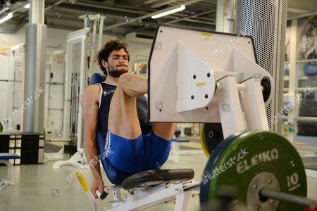 Matt Gotrel. Gb Elite Rowers Train At The Bisham Abbey Gym Bisham Abbey.