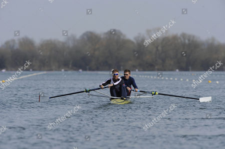 Will Satch/pete Reed. Gb Elite Rowers Train On The Water At The Official Training Facility At Caversham Reading.