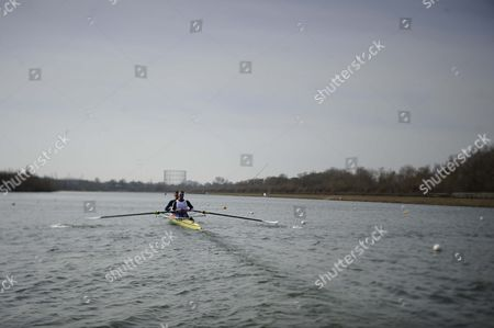 Pete Reed/will Satch. Gb Elite Rowers Train On The Water At The Official Training Facility At Caversham Reading.