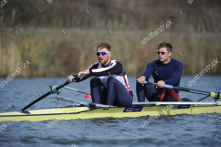 Will Satch/pete Reed. Gb Elite Rowers Train On The Water At The Official Traing Facility At Caversham Reading