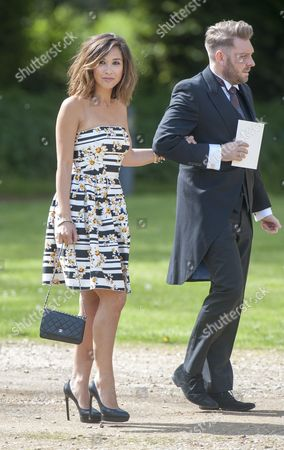 Marriage Of Spice Girl Gerri Halliwell To Redbull Formula One Boss Christian Horner At St Mary's Church In Woburn In Bedfordshire. Guests Included Mylene Klass.