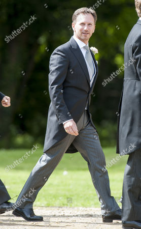 Marriage Of Spice Girl Gerri Halliwell To Redbull Formula One Boss Christian Horner At St Mary's Church In Woburn In Bedfordshire. 15.5.15.