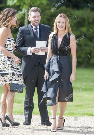 Marriage Of Spice Girl Gerri Halliwell To Redbull Formula One Boss Christian Horner At St Mary's Church In Woburn In Bedfordshire.guests Included Amanda Holden. 15.5.15.
