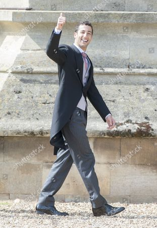 Marriage Of Spice Girl Gerri Halliwell To Redbull Formula One Boss Christian Horner At St Mary's Church In Woburn In Bedfordshire.guests Included Daniel Riccardo. 15.5.15.