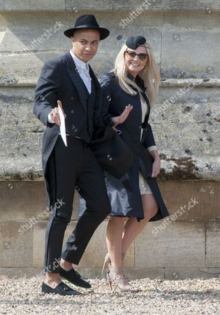 Marriage Of Spice Girl Gerri Halliwell To Redbull Formula One Boss Christian Horner At St Mary's Church In Woburn In Bedfordshire.guests Included Emma Bunton. 15.5.15.