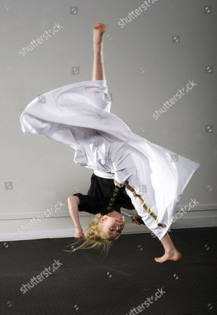 Jesse Jane Mcparland - The Karate Kid. Nine Year Old Martial Arts Expert Jesse Jane Mcparland Shows Off Her Moves After Wowing The Britain's Got Talent Judges London. Despite Her Young Age Jj Is Already A World Champion Kick Boxer With An Astonishing 117 Martial Arts Titles Under Her Belt 15.05.15.