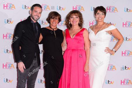 Dean Edwards, Lorraine Kelly, Maxine Jones and guest