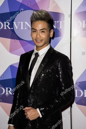 Editorial picture of Dr Vincent Wong launches Biofibre hair treatment, London, Britain - 17 May 2016