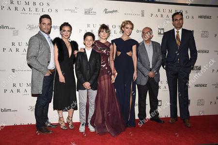 Michel Brown, Iliana Fox, Julian Fidalgo, Fernanda Castillo, Rafael Montero, Arturo Barba and guests