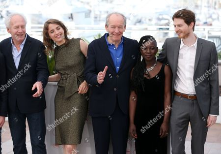 Jean-Pierre Dardenne, Adele Haenel, Luc Dardenne, Nadege Ouedraogo and Olivier Bonnaud