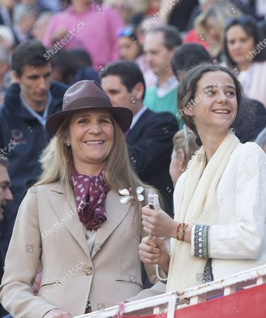 Princess Elena of Borbon and her daughter Princess Victoria Federica