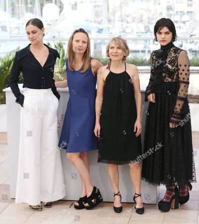 Stock Image of Ariane Labed, Delphine Coulin, Muriel Coulin and Soko