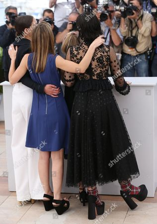 Stock Picture of Ariane Labed, Delphine Coulin, Muriel Coulin and Soko