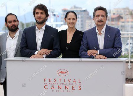 Humberto Carrao, Kleber Mendonça Filho and Sonia Braga