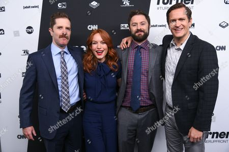 Andrew Orvedahl, Maria Thayer, Adam Cayton-Holland, and Ben Roy