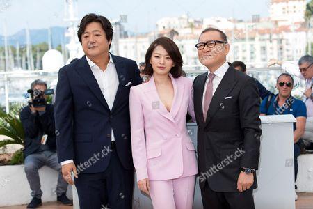 Kwak Do-won, Chun Woo Hee and Jun Kunimura