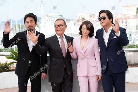 Na Hong-Jin and actors Jun Kunimura, Chun Woo Hee and Kwak Do-won